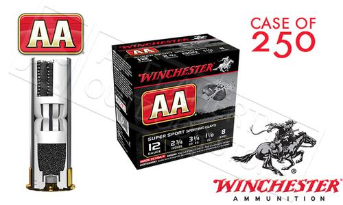 "(Store Pick up Only) Winchester AA Super Sport Sporting Clays Shot Shells 12 Gauge 2-3/4"" #8 Shot Case of 250 #AASC128?>"