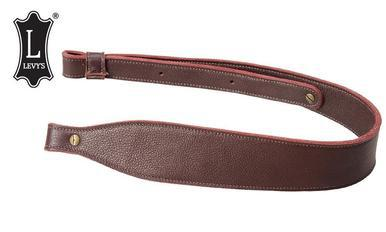 "Levy's Leathers Three-Ply Leather Cobra Rifle Sling, 29"" - 37"" Burgundy #SNG20SS-BRG?>"