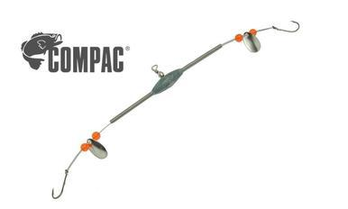 Compac Deluxe 2-Way Flexible Arm Spreader with Spinners and Beads, #6 Baitholder #2WSSP?>