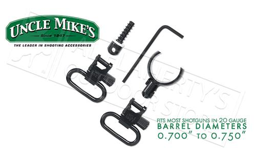 "Uncle Mike's Magnum Band Swivel Kit for Single and Over Under Guns, Most 20 Gauge .700""-.750"" Diameter #1597-2?>"
