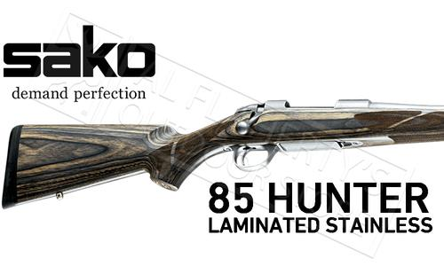 Sako 85 Grey Wolf Rifle in Stainless Steel with Laminate Stock #JRS2Cxx?>
