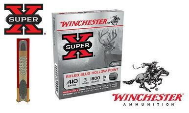 "Winchester Super X Rifled Slugs Hollow Point .410 Gauge 2-1/2"" Box of 5 #X41RS5?>"