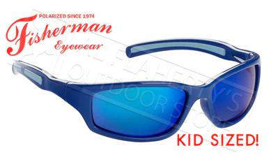 Fisherman Eyewear Bluegill Kids Polarized Sunglasses, Royal Blue with Blue Mirror Lens #50543431?>