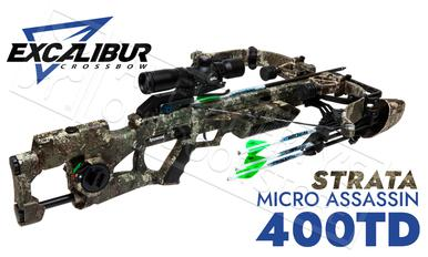 Excalibur Micro Assassin 400 Crossbow Takedown Truetimber Strata with Tact 100 Scope #E74150?>