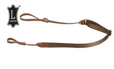 "Levy's Leathers Shotgun Loop Sling, Leathery and Polypropylene, Adjustable to 45"", Brown #S95N-BR?>"