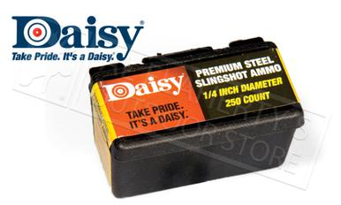 Daisy PowerLine 1/4 Inch Steel Slingshot Ammunition, Box of 250 #988114?>