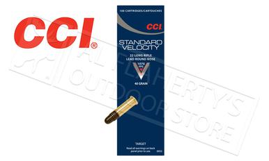 CCI Standard Velocity 22LR, 40 Grain Lead Round-Nose Box of 100 #0032?>