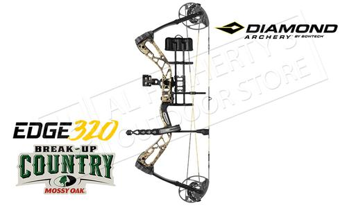 BowTech Diamond Archery Edge 320 Bow Kit, 7-70 lb Adjustable Compound Bow, Mossy Oak Break-Up Country Camo #A13801?>