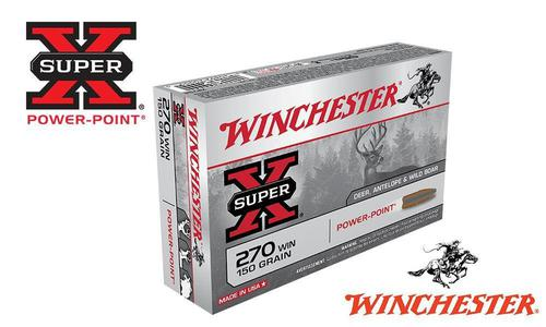 Winchester 270 WIN Super X, Power Point 150 Grain Box of 20 #X2704?>