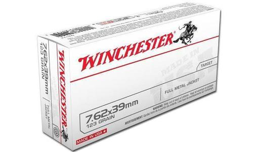 Winchester 7.62X39mm White Box, FMJ 123 Grain Box of 20 #Q3174?>