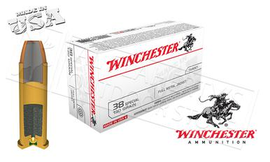 Winchester .38 Special White Box, FMJ 130 Grain Box of 50 #Q4171?>
