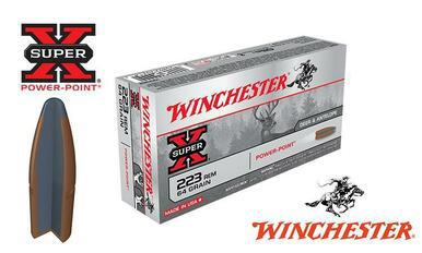 Winchester .223 Rem Super X, Power Point 64 grain, Box of 20 #X223R2?>