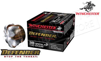 Winchester 38 Special +P PDX1 Defender, Bonded JHP 130 Grain Box of 20 #S38PDB?>