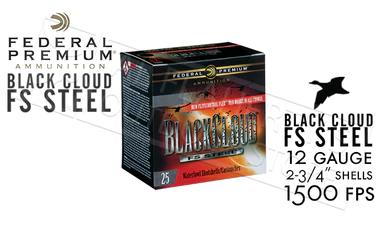 "Federal Black Cloud FS Steel with FliteControl Flex Wad 12 Gauge 2-3/4"" Box of 25 #PWBX147?>"