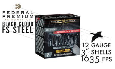 "Federal Black Cloud FS Steel High Velocity with FliteControl Flex Wad 12 Gauge #2 to #BB Shot 3"" Box of 25 #PWBXH143?>"