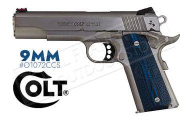 Colt 1911 Competition Government Frame Pistol, 9mm Stainless Finish #o1072CCS?>