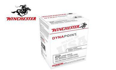 Winchester 22LR Dynapoint Ammunition 40 Grain Copper Plated  Hollow Point Box of 500 #WD22LRB?>