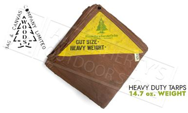 Woods Vintage Heavy Duty Canadian Made Canvas Tarps - Brown 14.7 oz.?>