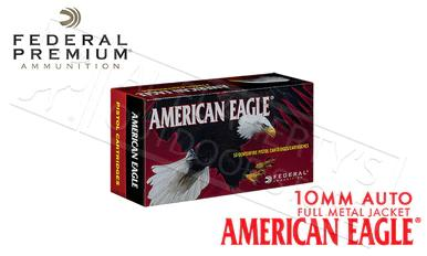 Federal American Eagle 10mm Auto, FMJ 180 Grain Box of 50 #AE10A?>