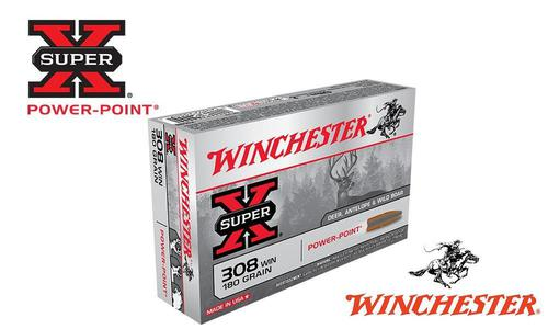 Winchester .308 WIN Super X, Power Point 180 Grain Box of 20 #X3086?>