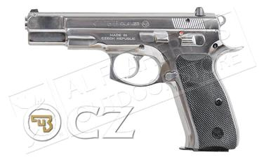 CZ 75 B High Polish Stainless Steel Pistol, 9mm?>