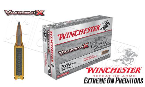 Winchester 243 WIN Varmint X, Polymer Tipped 58 Grain box of 20 #X243P?>