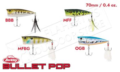 Berkley Bullet Pop Topwater Popper, Various Patterns 70mm 0.4 oz #BHBBP70?>