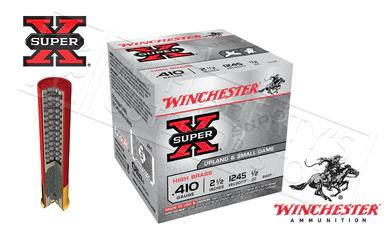 "Winchester Super X Upland & Small Game Shells .410 Gauge 2-1/2"" #4 #6 or #7-1/2  Shot, Box of 25 #X41x?>"