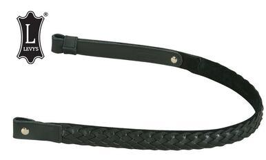 "Levy's Leathers Braided Leather Rifle Sling with Suede Backing, 31""-35"", Black #SN7BS-BLK/BLK?>"