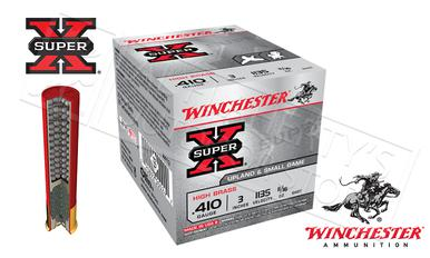 "Winchester Super X Upland & Small Game Shells .410 Gauge 3"" #4 #6 or #7-1/2  Shot, Box of 25 #X413x?>"