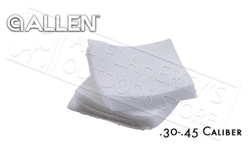 Allen Cotton Patches for Gun Cleaning, .30-.45 Caliber 40-Pieces #70657?>
