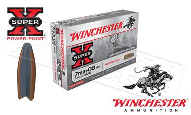 Winchester 7mm-08 Rem Super X, Power Point 140 Grain Box of 20 #X708?>