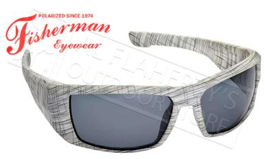 Fisherman Eyewear Bayou Polarized Sunglasses, White Terrain with Grey Lens #50280901?>
