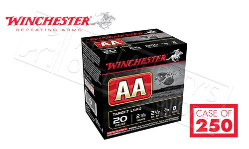 "(Store Pick Up Only) Winchester AA 20 Gauge #8, 2-3/4"" Case of 250 Shells #AA208CASE?>"