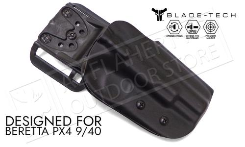 Blade-Tech Original Holster for Beretta PX4 9mm and 40SW, Right-Handed D/OS with ASR Mount #HOLX000859087700?>