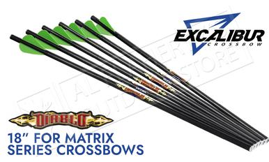 "Excalibur Matrix Diablo 18"" Carbon Arrows 6-Pack #22DV18-6?>"