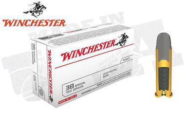 Winchester .38 Special White Box, Lead Round Nose 150 Grain Box of 50 #Q4196?>