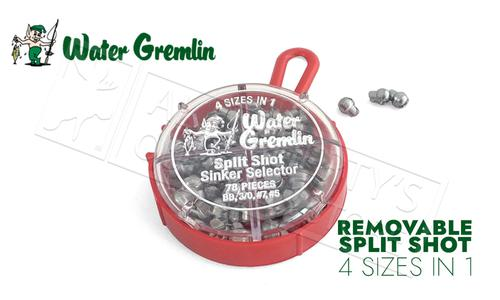 Water Gremlin Removable Split Shot, Sinker Selector 4-in-1 Pack, BB, 3/0, 7 and 5 #700R?>