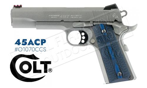 Colt 1911 Competition Government Frame Pistol, 45ACP Stainless Finish #o1070CCS?>
