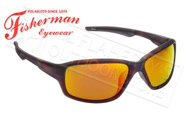 Fisherman Eyewear Dorado Polarized Sunglasses, Tortoise with Red Mirror Lens #50290222?>