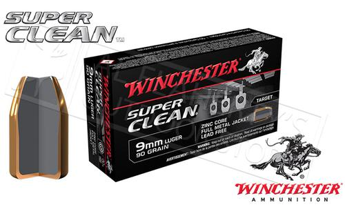 Winchester 9mm Super Clean, 90 Grain Box of 50 #W9MMLF?>