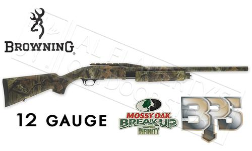 "Browning SG BPS Rifled Shotgun in Mossy Oak Break-Up Country Camo, 12 or 20 Gauge, 3"" Chamber, 22"" Barrel with Cantilever?>"
