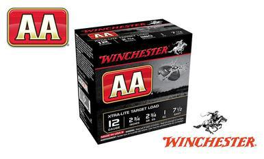 "(Store Pick up Only) Winchester AA Heavy Target Load 12 Gauge #7.5, 2-3/4"", 1-1/8 oz., Case of 250 #AAM127-CASE?>"