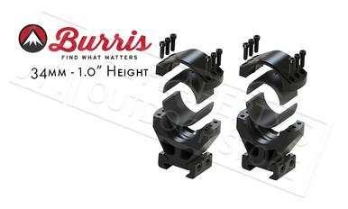 "Burris XTR Signature Rings, 34mm 1"" Height, Customizable Cant #420210?>"