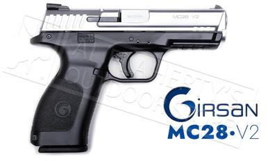 Girsan MC28 V2 Striker Fire Pistol - 9mm Stainless/Black #MC28V2STS?>