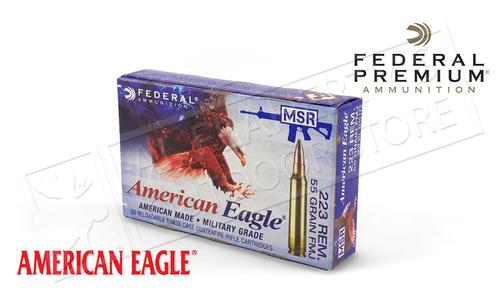 Federal American Eagle 223 Rem Tactical, FMJ 55 Grain Box of 20 or 500 for $209.75 & 1K for $409.50 #AE223J?>