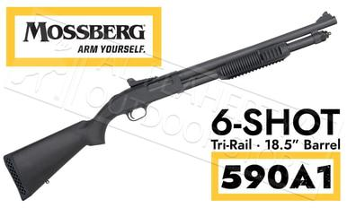 "Mossberg 590A1 Shotgun 7 Shot Tri-Rail with Ghost Rings 18-1/2"" Barrel  #50774?>"