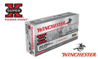 Winchester 22-250 Rem Super X, Power Point 64 Grain Box of 20 #X222502?>