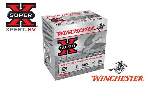 "Winchester Super-X Xpert High Velocity Waterfowl Shells 12 Gauge 3"" Steel Shot, 1-1/4 oz. 1400 FPS, Box of 25 #WEX123H?>"