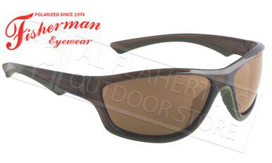 Fisherman Eyewear Rapid Polarized Glasses, Crystal Olive Frames with Brown Lens #96100725?>